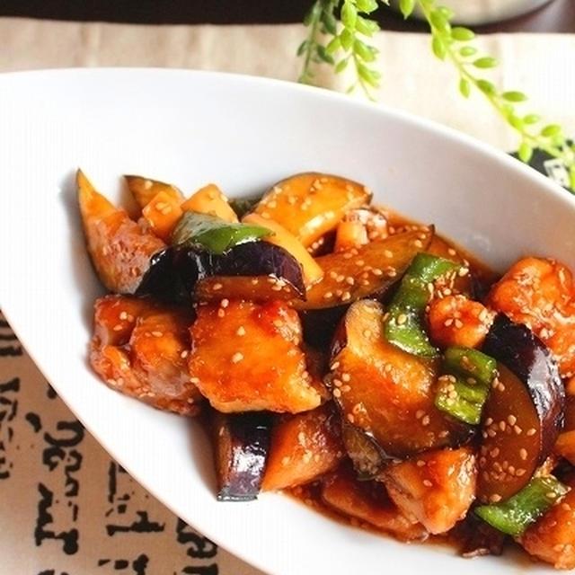 ご飯がすすむ!鶏肉と茄子のピリ辛照り焼き