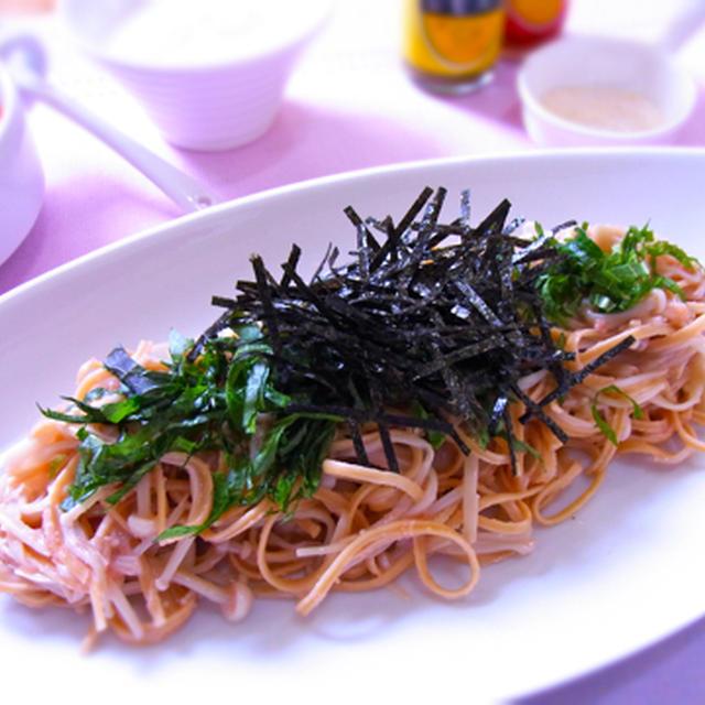 糖質制限! 大豆100%麺(ソイヌードル)のたらこパスタ風 & ゴールデンベスト