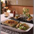 菜花とシーフードのドリア!と、コンポタコロッケ