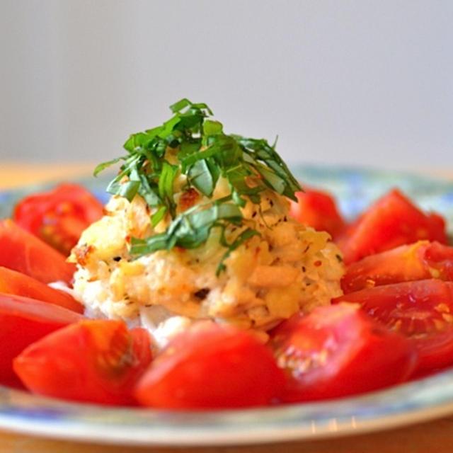 トマツナパスタのオーブン焼き
