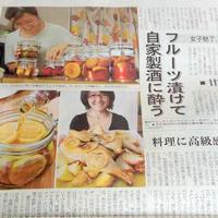 本日の日経MJ新聞・女子を魅了!ブランデー消費に火