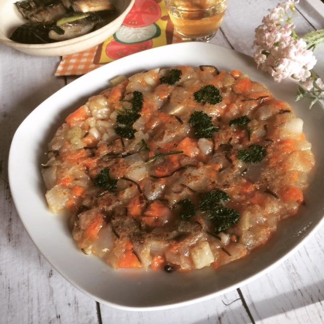 料理教室レシピのアレンジ☆人参と大根の塩昆布だいこん餅