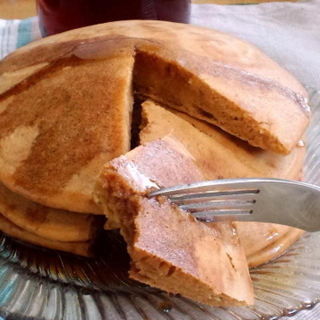 米粉ときな粉のホットケーキ