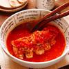 セロリ香る鶏胸肉のレンチン!トマト煮