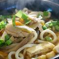 リメイク料理で【竹の子五目けんちんうどん】五目飯の味付け具材がスープに変身!!簡単!5分♪