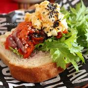 朝ごはん*食べにくい系サンドイッチ、作り置き、娘の体調、寒さか?