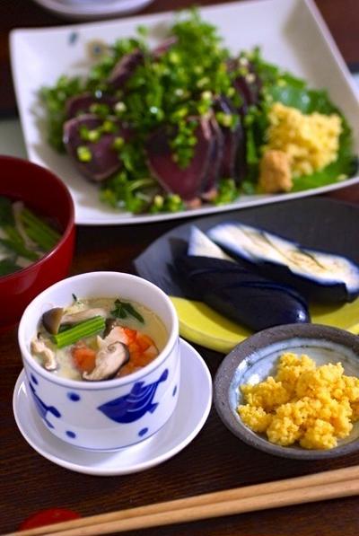 具の見える茶碗蒸しレシピ☆わが家のスタンダード