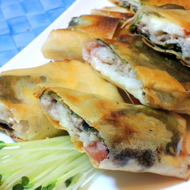 今日の居酒屋料理は、長芋入り☆豚肉の梅しそ春巻き☆☆☆