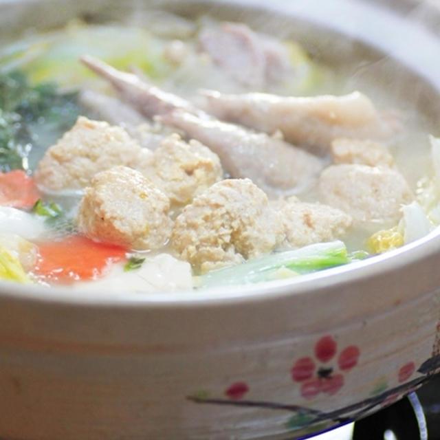 鶏のつみれ鍋☆博多水炊き風