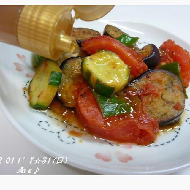 夏野菜炒め☆のっけてジュレ~
