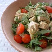アボカドとトマトと水菜のサラダ
