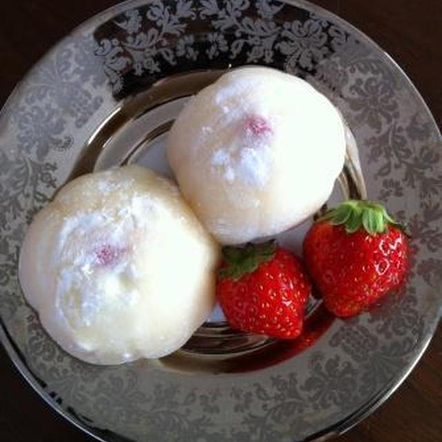 大成功♡もちっふわ美味いちごハニークリーム大福♪