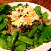 【すぼら〜ごはん】カラフルスパイスの卵サラダ
