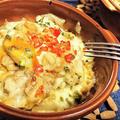 【レシピ】簡単★オーブン★コク旨★絶品【鶏肉とポテトのガーリックオイマヨチーズ焼き】