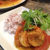 海老とトマトのスパイシーカレー炒め