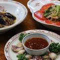 レシピ付き献立 麻婆なす・青梗菜の中華サラダ・たこのから揚げ香味ソース