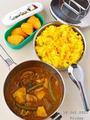 豚と夏野菜のスパイスカレー&ターメリックレモンライス