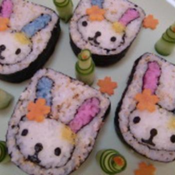 ウサハナちゃんの飾り巻き寿司 さくら寿司すくーるのオリジナルレシピ