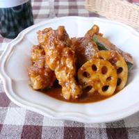 ほろほろ鶏肉と根菜のバルサミコ煮込み