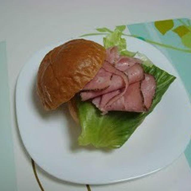 黒胡椒ハムのサンドイッチ(Sandwich with Black Pepper Ham)