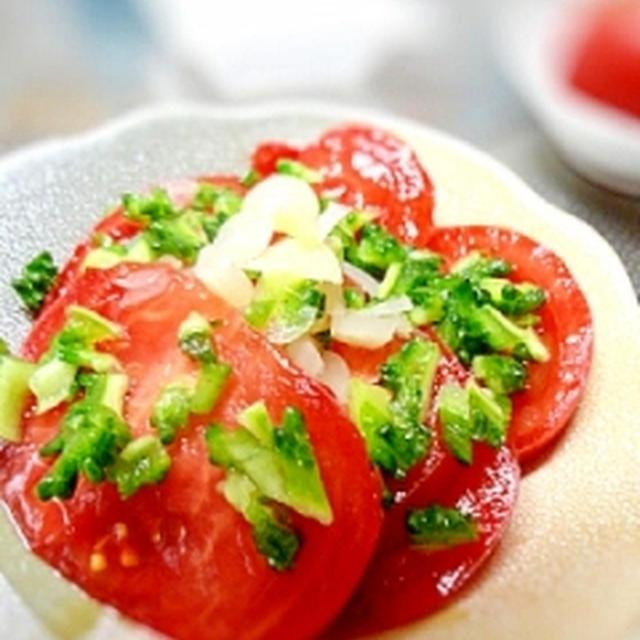 夏はさっぱり☆トマトとゴーヤのらっきょう甘酢サラダ