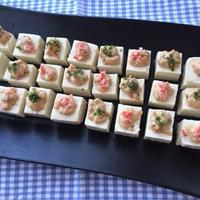 梅干on可愛いカラフル豆腐〜カルロロッシとともに