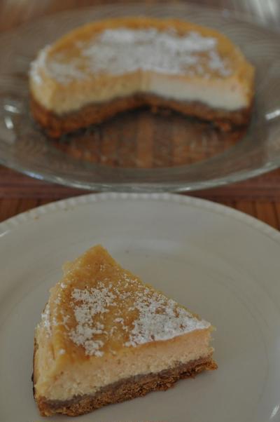 プラムチーズケーキ
