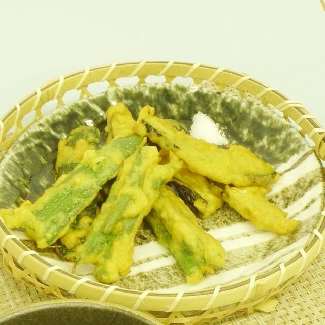 夏野菜の魚のすり身入りカレー風味フリッター
