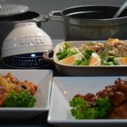 ストウブで「揚げ鶏の葱ソース&唐揚げ」の晩ごはん