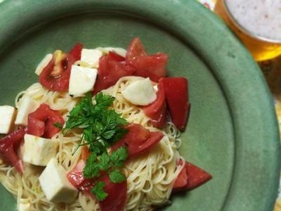 >モッツァレラとトマトの冷製パスタ by ちまるんさん