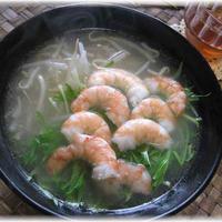 茨城県産 水菜を使って ~海老と水菜のフォー♪~