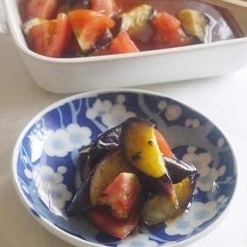 【6・7月メニュー】揚げ茄子とトマトのマリネ コチュジャン風味