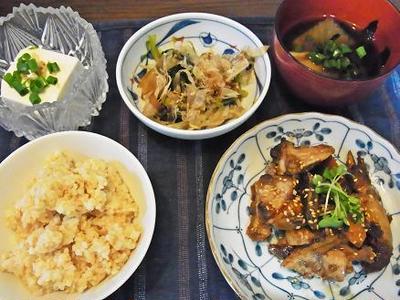 ムネ肉の味噌焼き&大量の梅^_^;