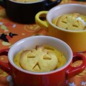 かぼちゃクッキーのせかぼちゃプリン