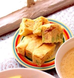 レンジで簡単!ツナと枝豆のおかず蒸しパン