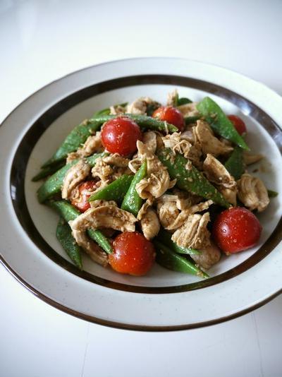 【動画レシピ】鶏ささみとインゲン豆の胡麻和え♪