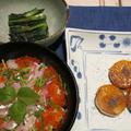 鯛イクラ丼&長芋のウニ焼き