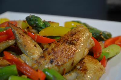 鶏手羽先のガーリックカレー炒め♪お弁当レシピモニター