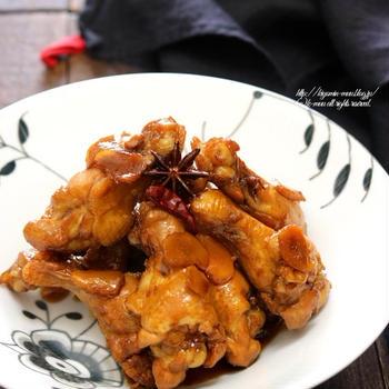 そのまま焼くだけじゃない!味付け多彩な「手羽元」メインおかず。~鶏肉の中華煮~