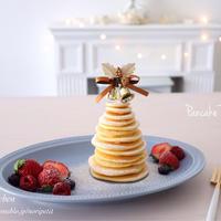 Pancake Saturday♡ おやつはツリーパンケーキ♪