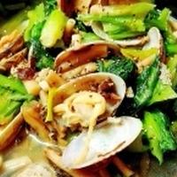 あさりと小松菜の土鍋蒸し