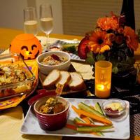 【うちごはん】カボチャとクリームチーズのデリ風サラダ /  【参加中】レシピブログ「花と料理で楽しむ♪ハッピーハロウィン」モニター参加中