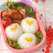 ハートコーンのおにぎり弁当 by akinoichigoさん