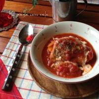 絶品!チキンの濃厚トマト煮込み。ご飯にも合う味♪