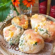 【レシピ】明太子と卵のごちそうおにぎり