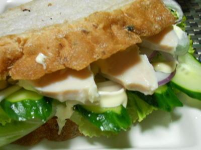 鶏ハムサンドウィッチ