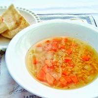 世界五大健康食品のレンズ豆入り野菜スープ☆カレー風味お