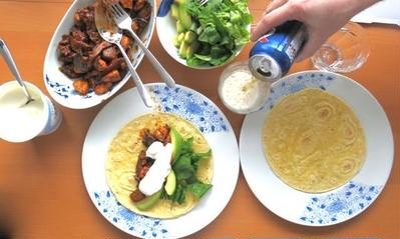 メキシコ流手巻き寿司!?ファヒータで簡単夕食