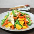 カラフル野菜と鶏肉のクミン炒め