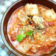 白菜と鶏肉で*味噌トマトチーズ煮込み